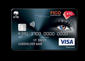 บัตรเครดิต เคทีซี FICO วีซ่าแพลทินัม