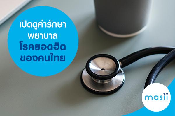 เปิดดูค่ารักษาพยาบาลโรคยอดฮิตของคนไทย