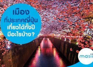 เมืองที่ประเทศญี่ปุ่นเที่ยวได้ทั้งปี มีอะไรบ้าง?