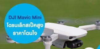 DJI Mavic Mini โดรนเล็กสเป็คสูง ราคาโดนใจ