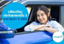 เปรียบเทียบ ประกันรถยนต์ชั้น 3 ราคาคุ้มค่า ปี 2020