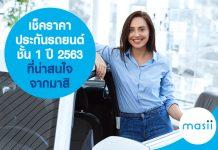 เช็คราคา ประกันรถยนต์ชั้น 1 ปี 2563 ที่น่าสนใจ จากมาสิ