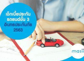 เช็กเบี้ยประกันรถยนต์ชั้น 3 อินทรประกันภัย 2563