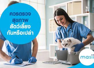 ควรตรวจสุขภาพสัตว์เลี้ยง กันหรือเปล่า