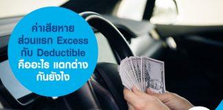 ค่าเสียหายส่วนแรก Excess กับ Deductible คืออะไร แตกต่างกันยังไง