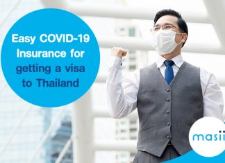 Easy COVID-19 Insurance for getting a visa to Thailand