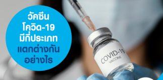 วัคซีนโควิด-19 มีกี่ประเภท แตกต่างกันอย่างไร