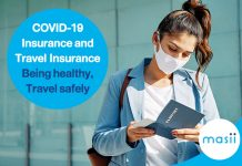 COVID-19 Insurance and Travel Insurance Being healthy, Travel safely